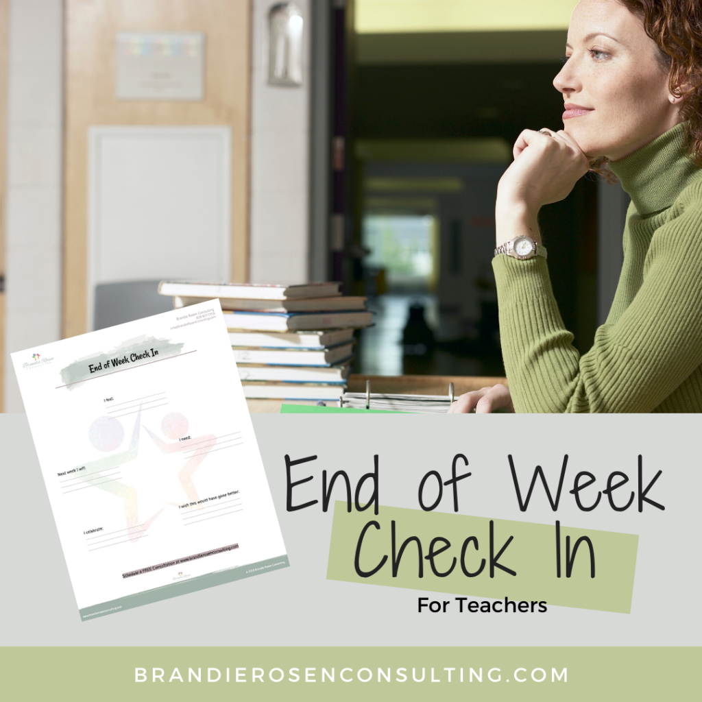 End of Week Check-In Resource