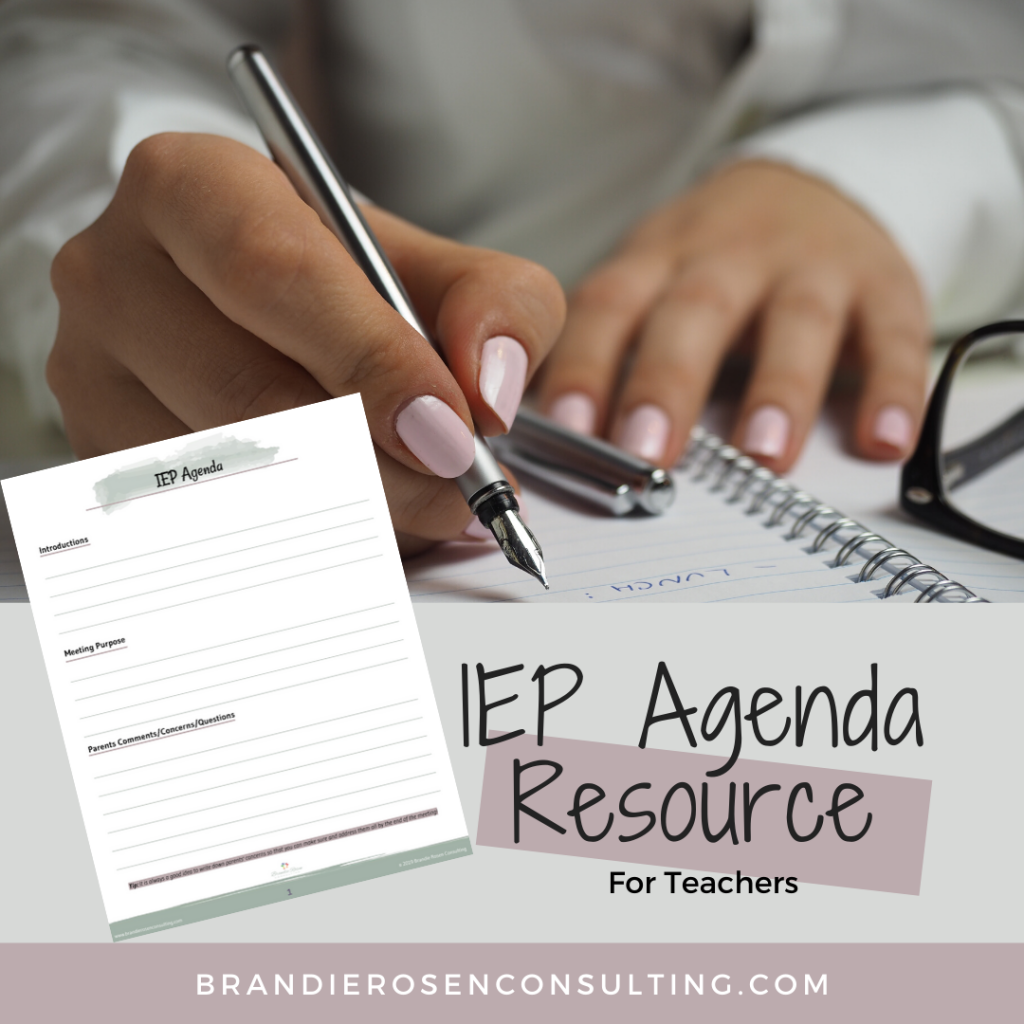 IEP agenda resource