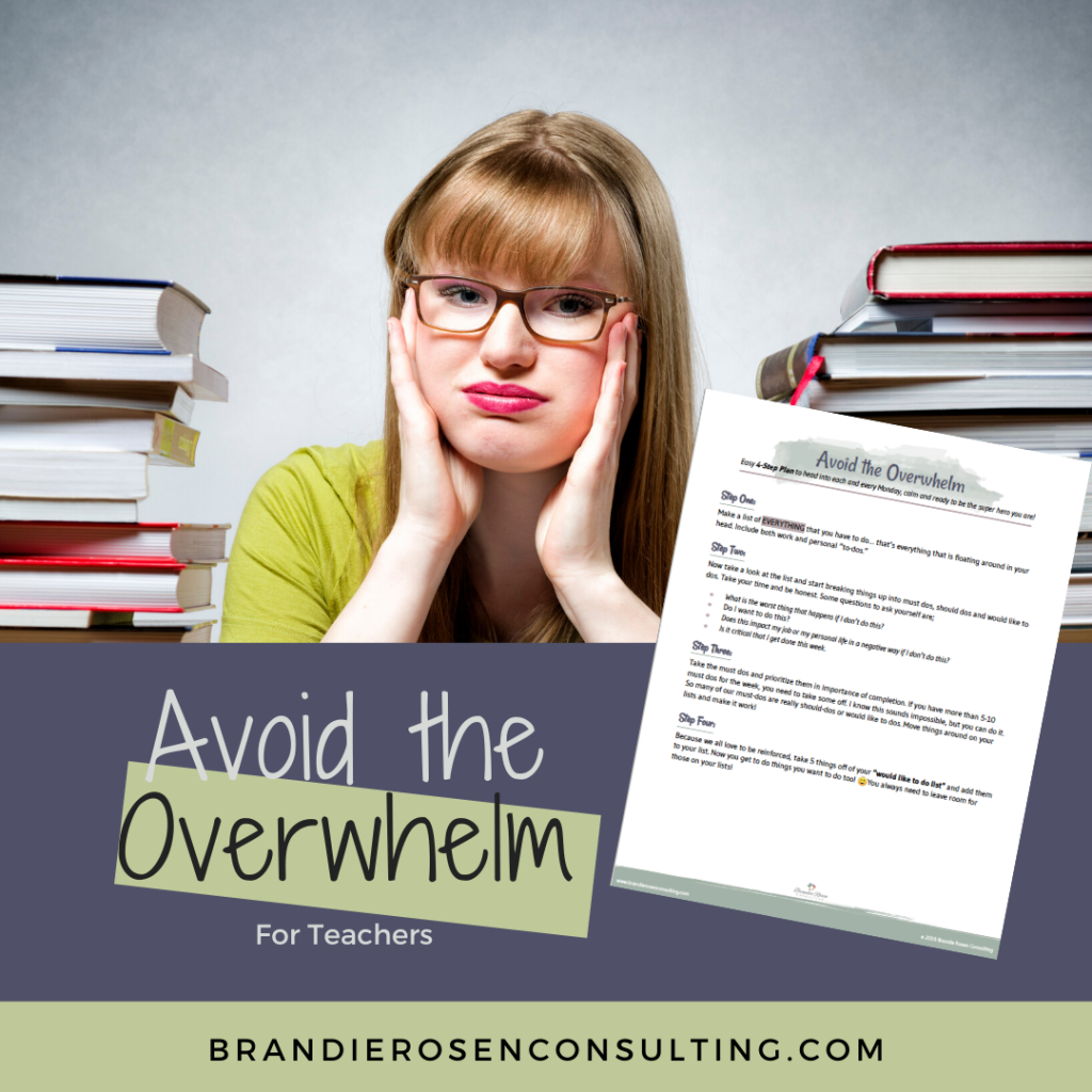 avoid the overwhelm
