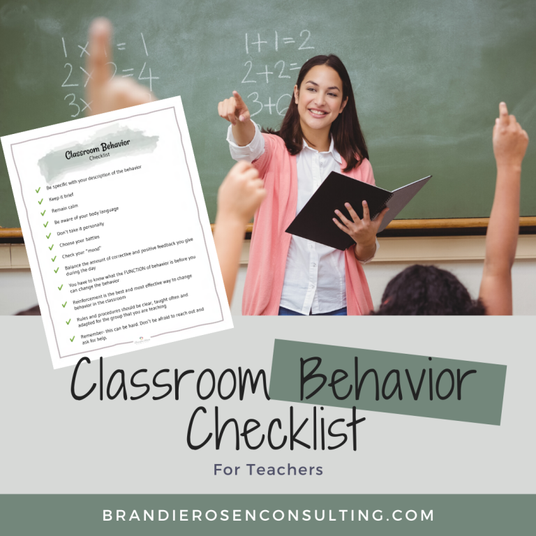 Resource Spotlight: Classroom Behavior Checklist for Teachers