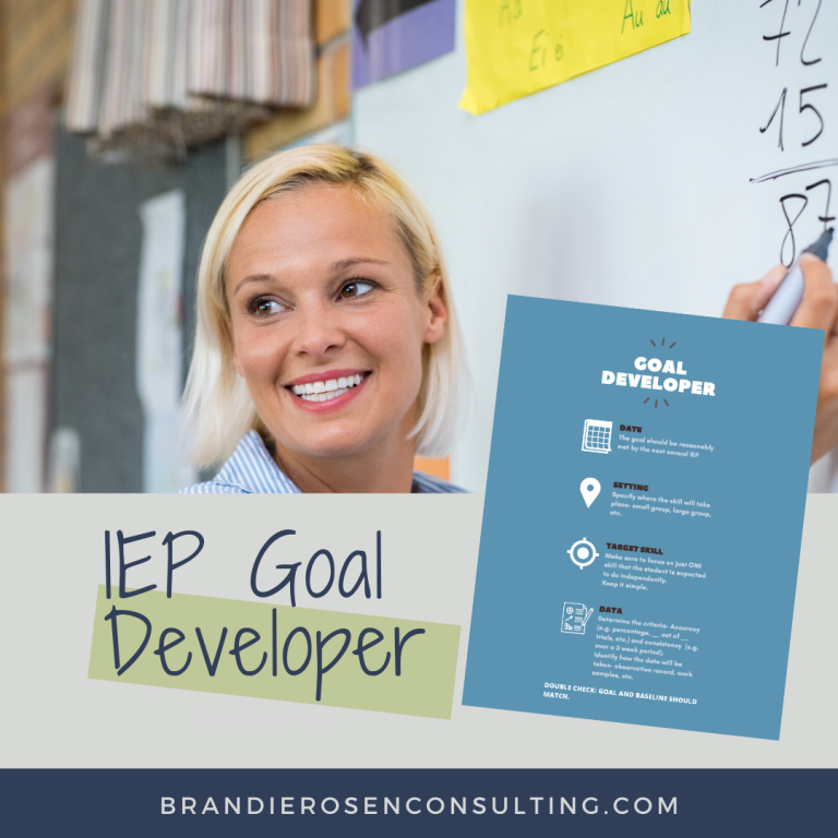 Resource Spotlight: IEP Goal Developer