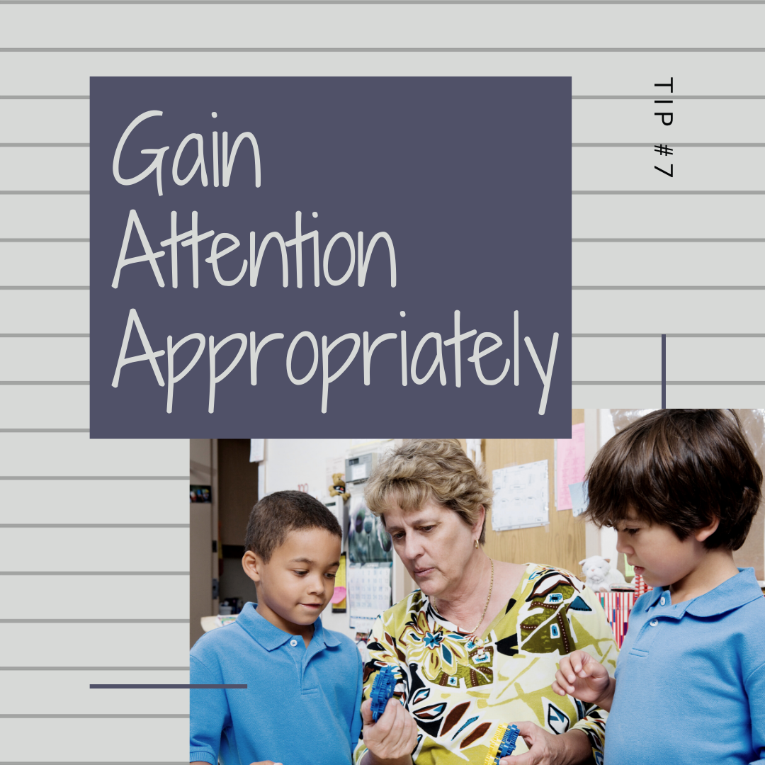 11 Days of Skills for Kids: Gaining Attention Appropriately