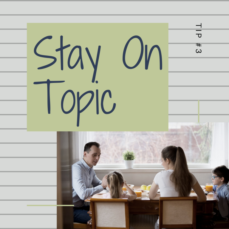 11 Days of Skills for Kids: Staying On Topic
