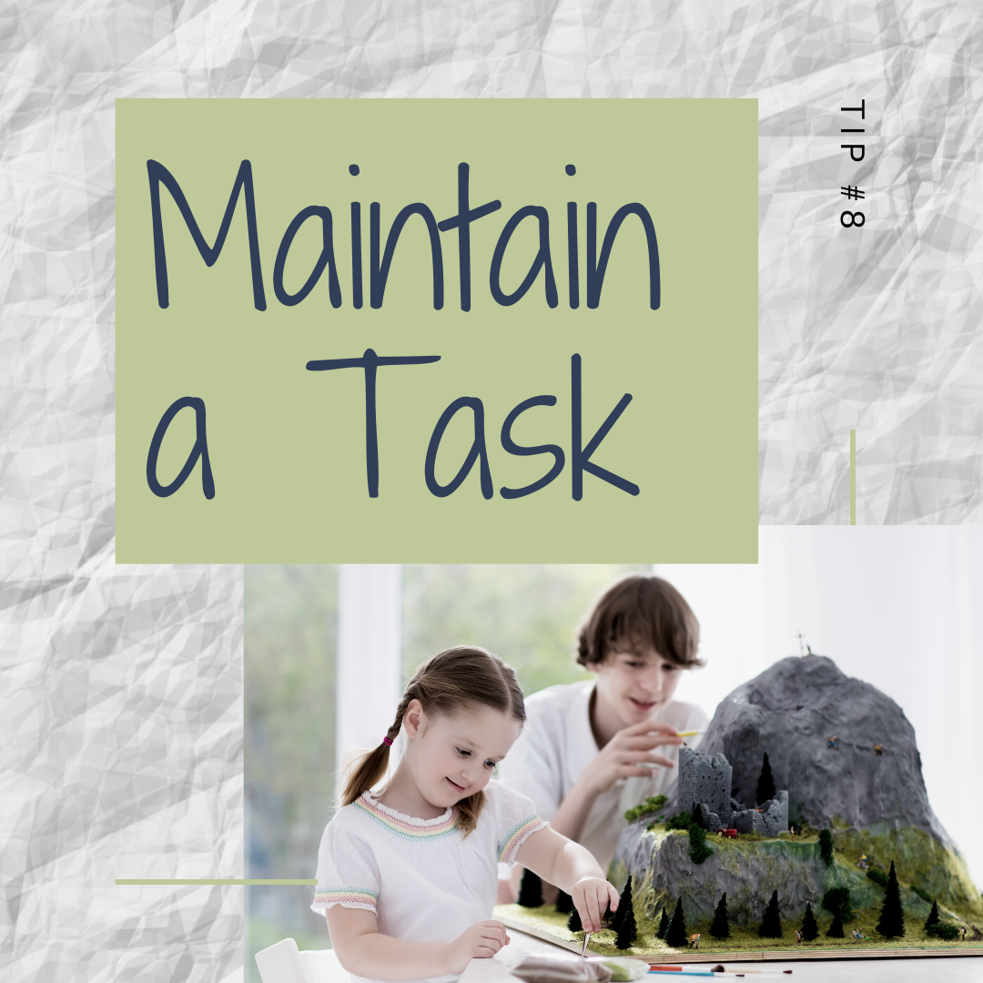 11 Days of Skills for Kids: Maintaining and Completing a Task