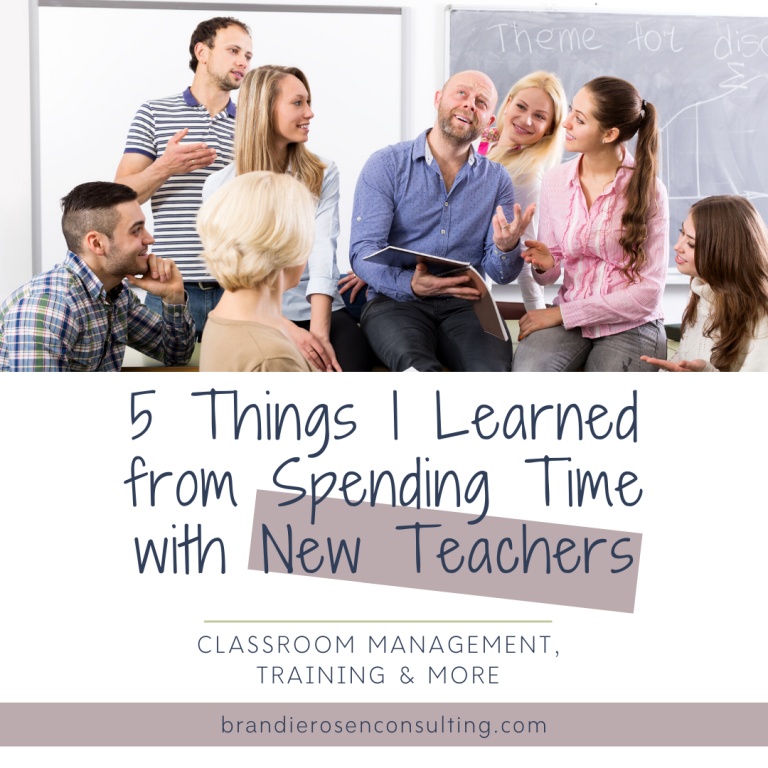 5 Things I Learned Spending Time with New Teachers