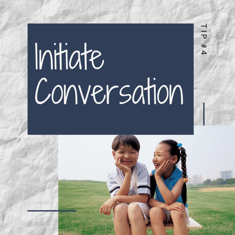 14 Days of Skills for Kids: Initiating a Conversation