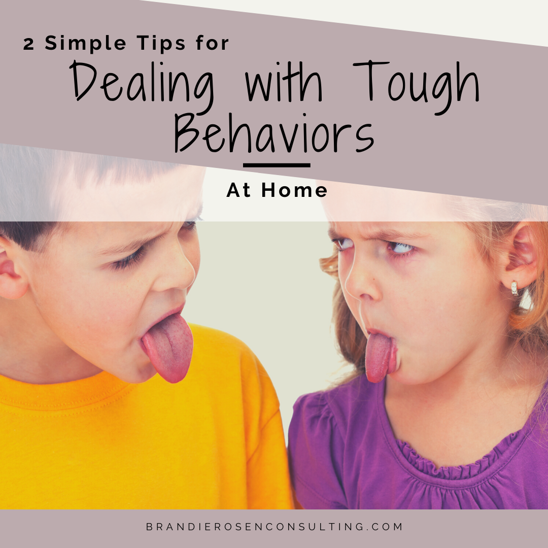 Dealing with Tough Behaviors: 2 Simple Steps for Success