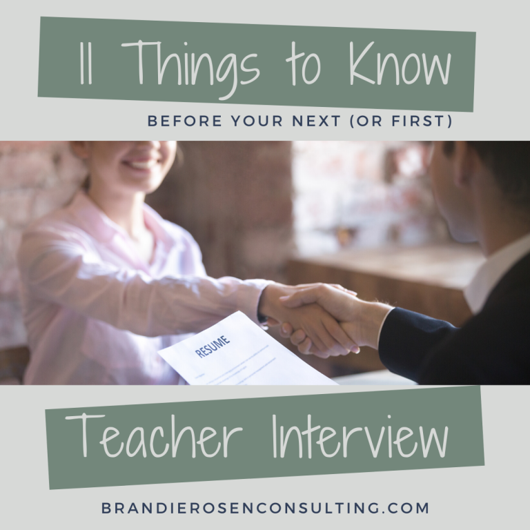 11 Things You Need to Know Before Your Next (or First!!) Teacher Interview