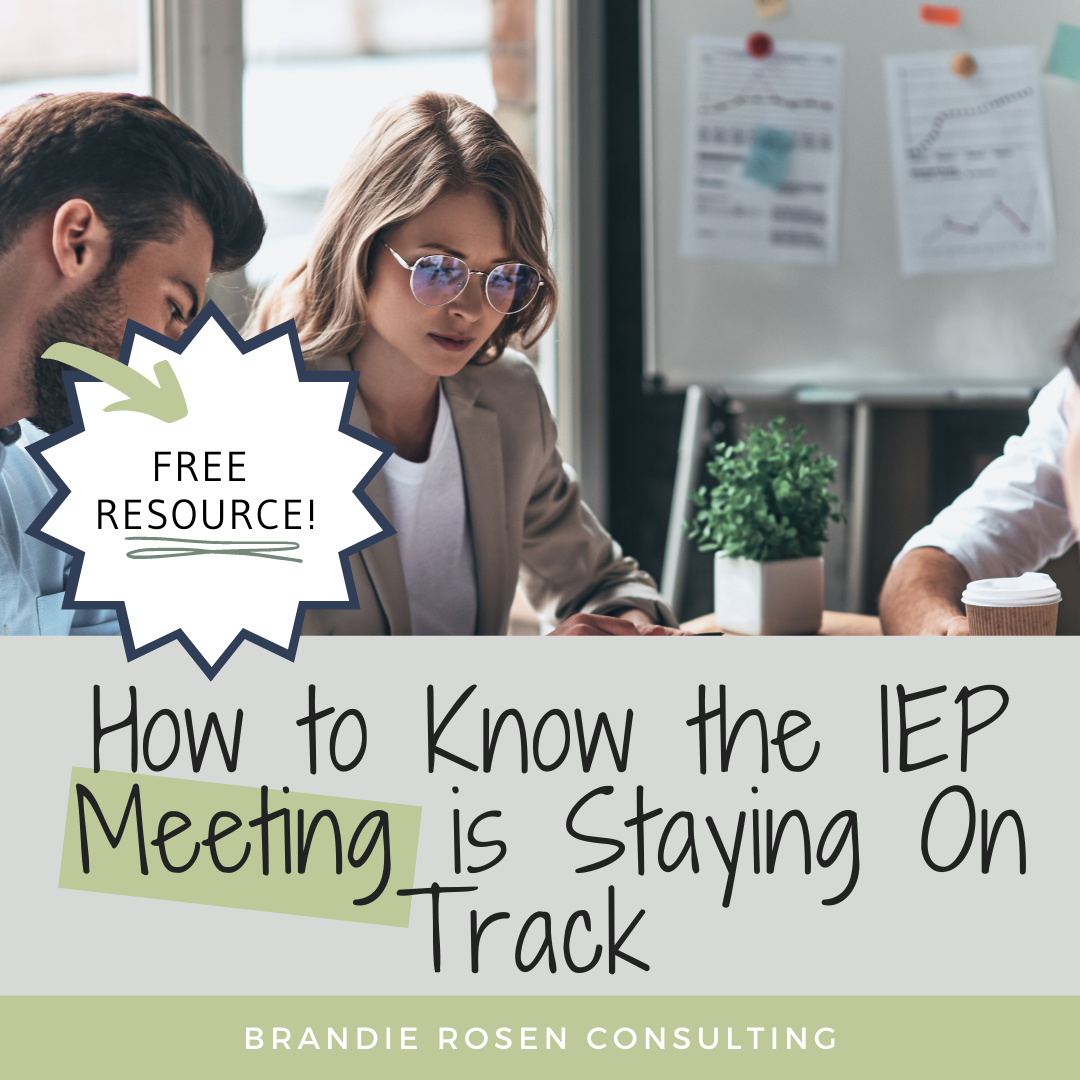 5 Hints to Know Your IEP Meeting is On Track