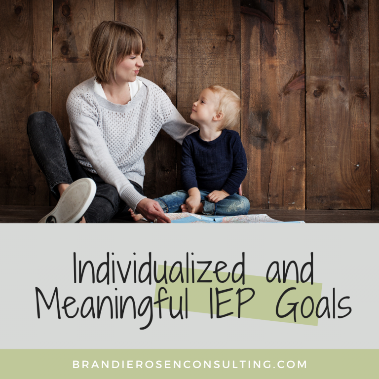 Setting Realistic and Consistent IEP Goals